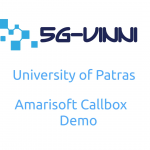 Patras5G/5G-VINNI facility site Greece demonstrates Amarisoft 5G