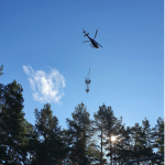 5G base station air-lifted