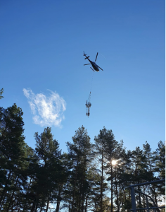 5G-VINNI base station air-lifted